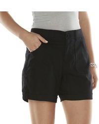 Gloria Vanderbilt Sydney Linen Blend Shorts