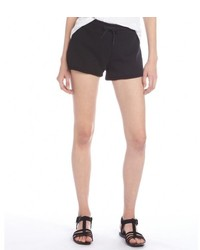 Alexander Wang T By Black Cotton French Terry Drawstring Shorts