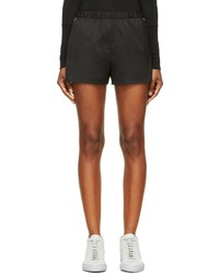 Alexander Wang T By Black Silk Twill Shorts