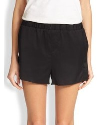 Alexander Wang T By Stretch Silk Split Side Track Shorts