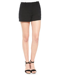 L'Agence Tech Cotton Welt Pocket Shorts Black