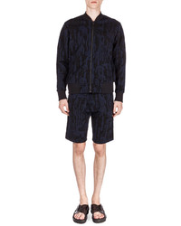 Kenzo Textured Drawstring Sweat Shorts Black