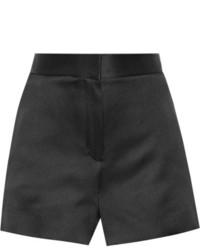 The Row Shors Silk Satin Shorts Black