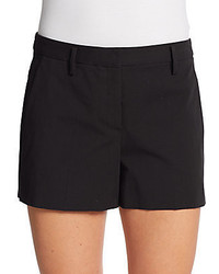 Theory Kasim Checklist Stretch Cotton Shorts