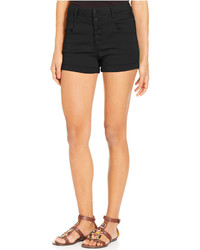 Tinseltown Juniors High Waisted Denim Shorts