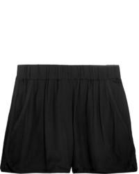 Etoile Isabel Marant Toile Isabel Marant Bertille Satin Trimmed Crepe De Chine Shorts