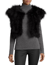 Jocelyn Marabou Feather Shrug Black