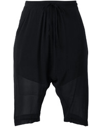 Black Silk Bermuda Shorts