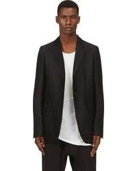 Black Silk Blazer
