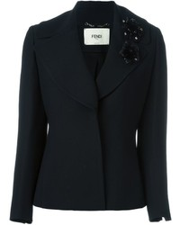 Fendi Flower Appliqu Blazer