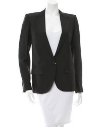 Chloé Notch Collar Silk Blazer