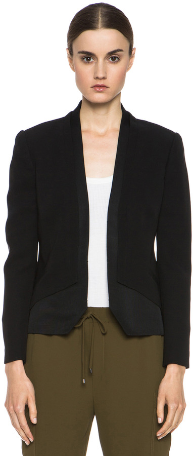 5db0738b68d15c Haute Hippie Silk Blazer In Black, $495 | Forward By Elyse Walker ...