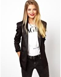 afae1338770 Women's Black Silk Blazers by Asos | Women's Fashion | Lookastic.com