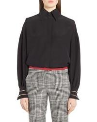 Fendi Bishop Sleeve Silk Blouse