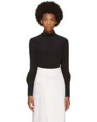 Chloé Chloe Black Button Back Blouse
