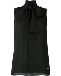 Dsquared2 Sleeveless Pussybow Blouse