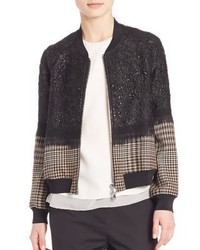 3.1 Phillip Lim Mixed Media Bomber Jacket