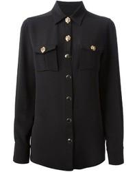 Fausto Puglisi Long Sleeve Silk Shirt