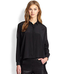 Rag and Bone Rag Bone Phoenix Stretch Silk Sheer Back Shirt