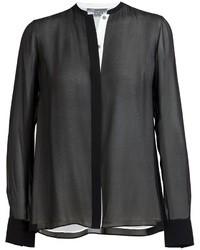 Vince Double Layered Silk Shirt