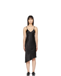 MARQUES ALMEIDA Black Twisted Seam Slip Dress