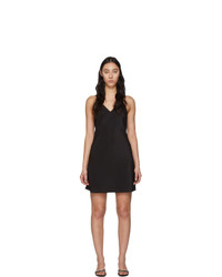 Fleur Du Mal Black V Neck Essential Slip Dress