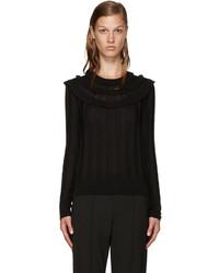 Marc Jacobs Black Wool Pointelle Sweater