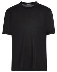 Ermenegildo Zegna Short Sleeve Silk T Shirt