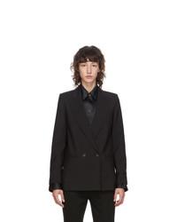 Max Mara Black Mohair And Silk Blazer