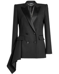 Alexander McQueen Handkerchief Hem Blazer With Wool And Silk