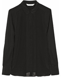 W118 By Walter Baker Joy Paneled Silk Crepe Shirt