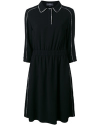 Salvatore Ferragamo Contrast Piping Dress