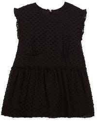Burberry Janina Sleeveless Silk Blend Boucle Dress Black Size 4 14