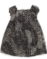 Burberry Vera Multipattern Silk Dress Black Size 3m 3