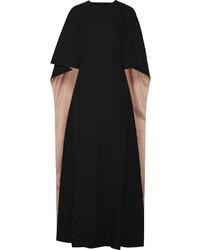 Cape back silk cady gown black medium 709124