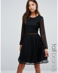 Yas tall long sleeve dress with lace insert medium 898753