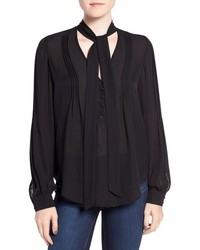 Lupita tie neck silk blouse medium 814152