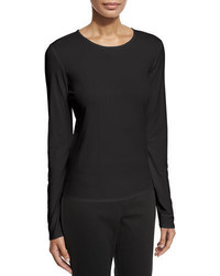 Eileen Fisher Long Sleeve Silk Crewneck Tee