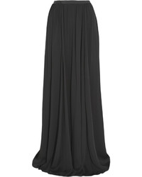 Black Silk Maxi Skirt