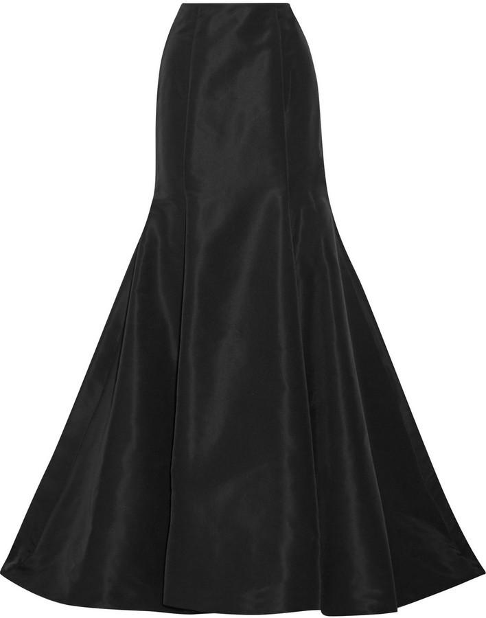 Oscar de la Renta Oscar de la Renta - Silk-faille Maxi Skirt - Black ...