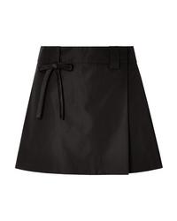 Prada Ed Silk Satin Wrap Mini Skirt