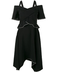 Proenza Schouler Off Shoulder Asymmetric Dress