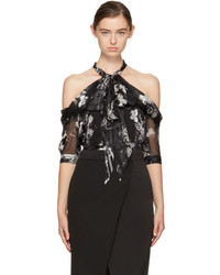 Erdem Black Elin Off The Shoulder Blouse