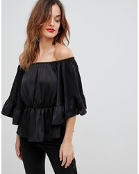 Y.a.s Top With Volume Ruffle Sleeves