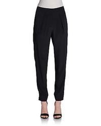 Diane von furstenberg atlas silk pants medium 96796