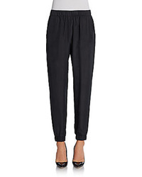 Minnie Rose Cuffed Silk Pants