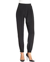 Quinn silk tuxedo pants medium 96811