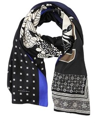 Black Silk Scarf
