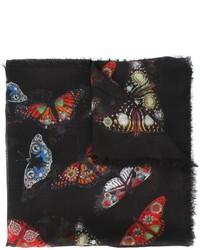 Alexander McQueen Bejewelled Butterfly Scarf