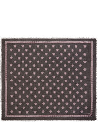 Versace Black And Pink Medusa Modal Scarf